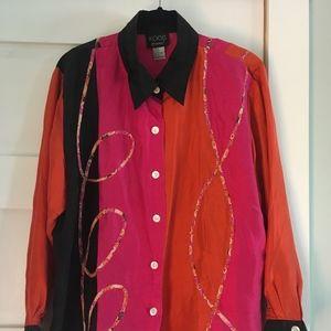 Koos of Course! Women's Silk Button Down Shirt